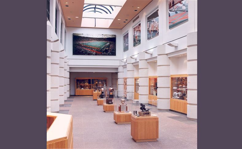 Syracuse University Manley Project Football Hall of Fame Interior1